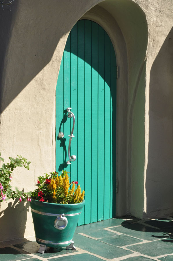 Turquoise Door and Entry Hall & Turquoise Tulips and Bliss: Turquoise Door Tuesday